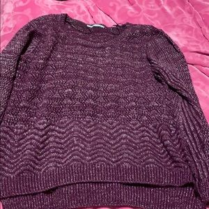 Sparkly long sleeve sweater